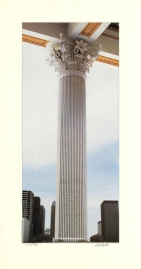 Scott Mutter Gold Column Signed Art Print 1986