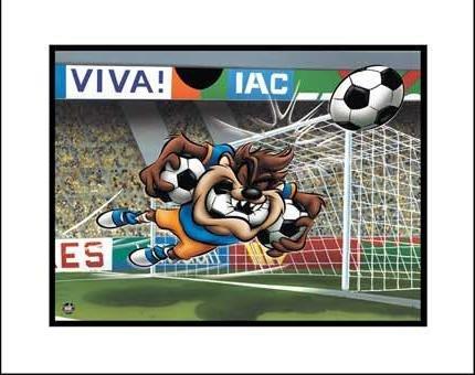Looney Tunes Art Taz Soccer Giclee Original