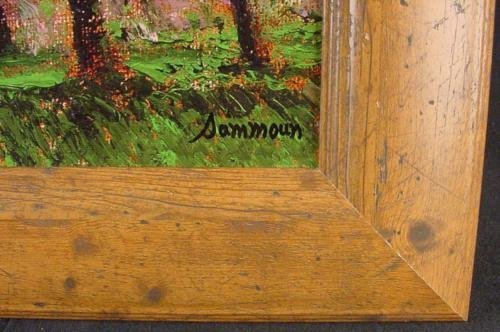 Rustic Frame CHERRY TREES IN BLOOM Sammoun Canvas Art - 3
