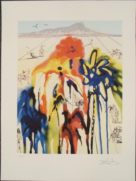 Salvador Dali : Diamond Head A Surrealistic Art Print