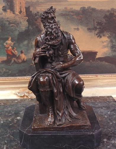 Exquisite Bronze Sculpture Michaelangelo's Moses