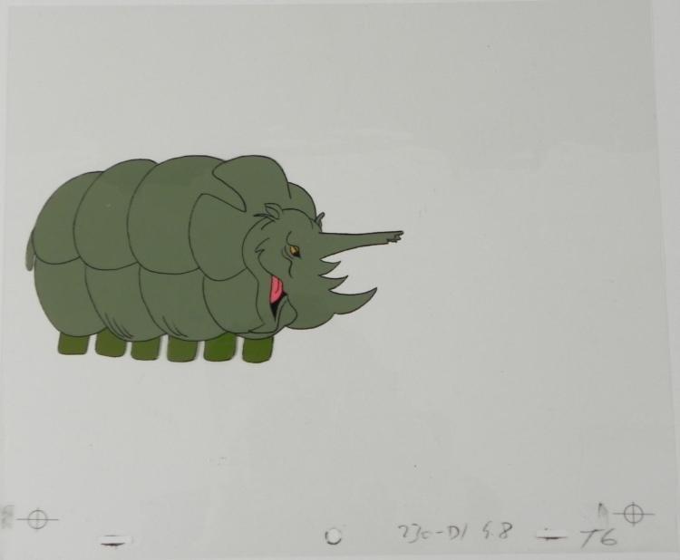 Herculoids Original Cel Totally Satisfied Animation
