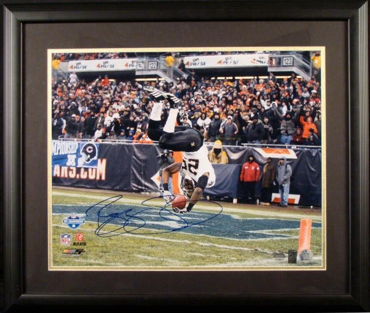 Signed and Matted Reggie Bush Photograph