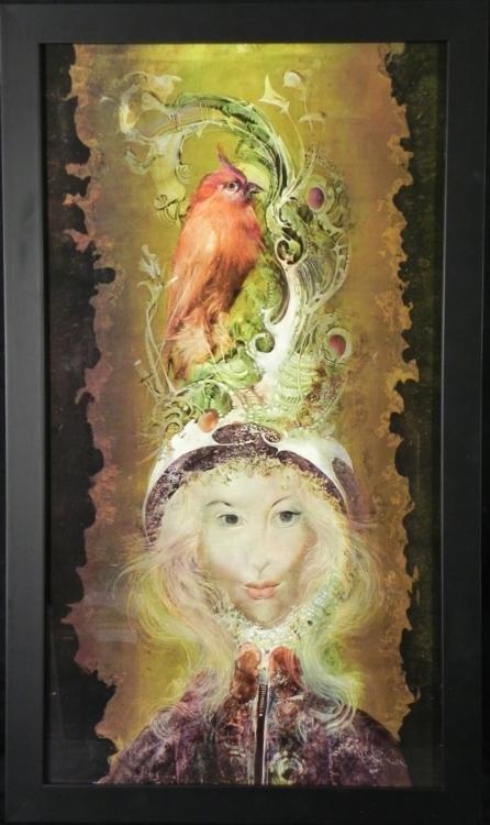 Endre Szasz Art Print The Red Bird -Framed