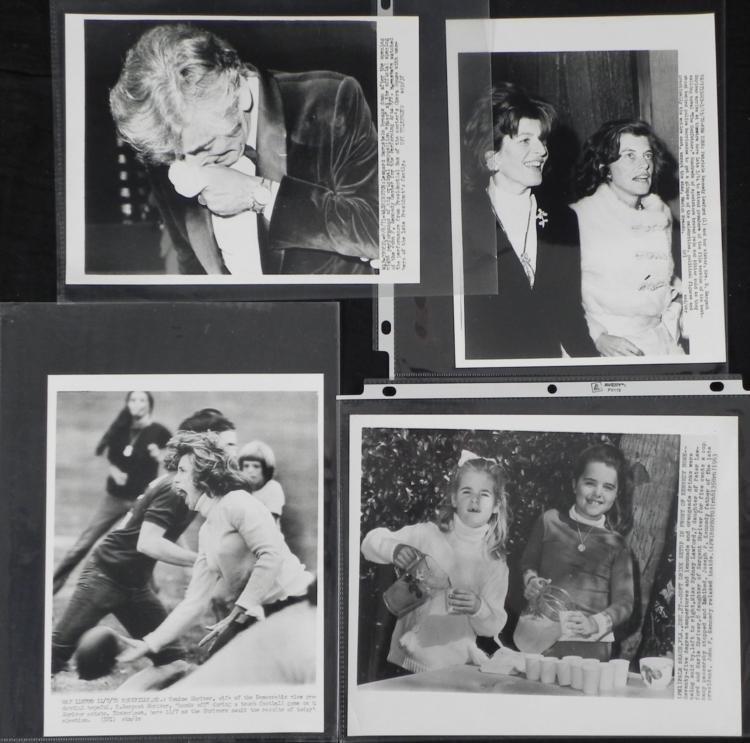 4 Orig Kennedy Friends Press Photos Lawford,Shriver