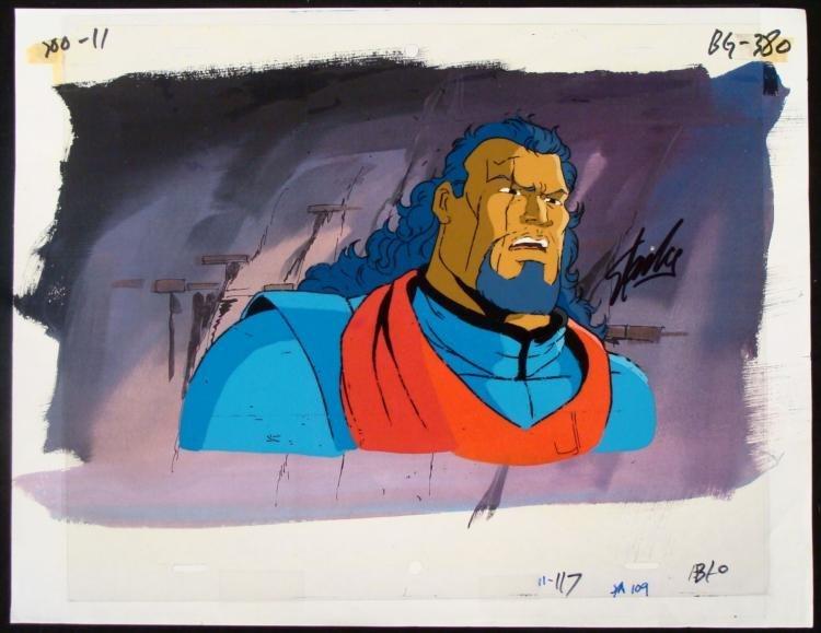 Stan Lee X-Men Animation Original Signed Cel Bishop