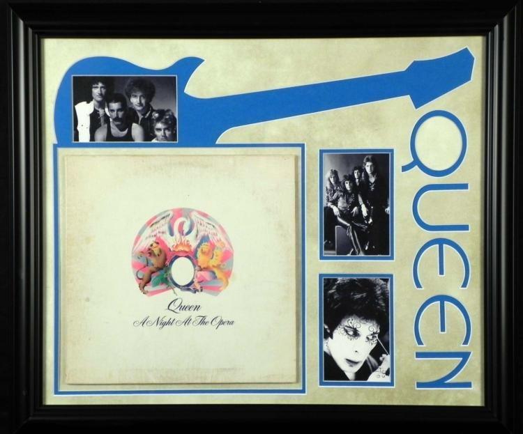 Queen Night at the Opera Vint Record Album Custom Frame