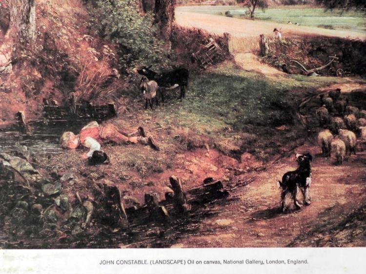 John Constable The Cornfield Lithograph Art Print - 2