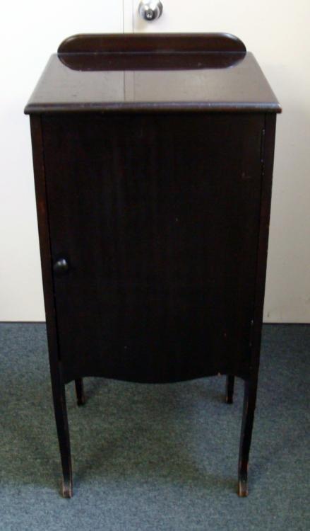 Antique Wood 6 Shelf Record Sheet Music Storage Cabinet