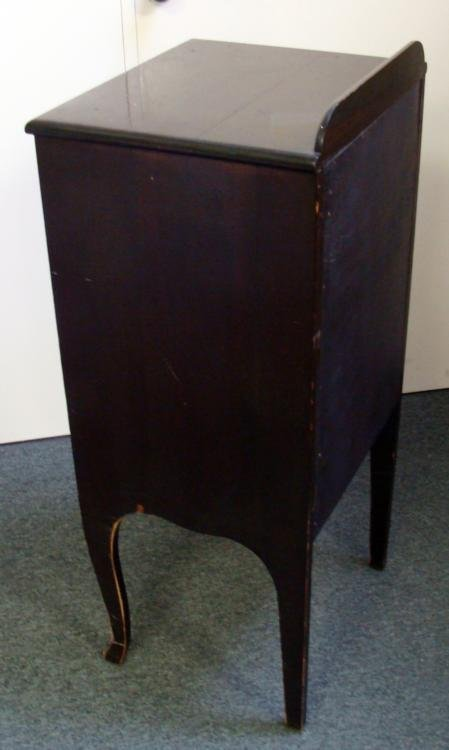 Antique Wood 6 Shelf Record Sheet Music Storage Cabinet - 4
