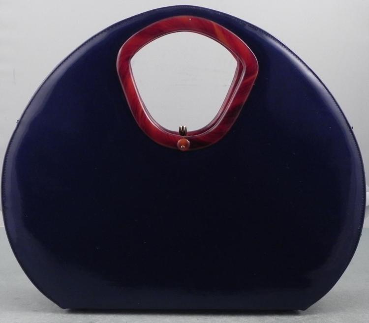 Bobbie Jerome Big Vintage Patent Leather Handbag 1960s