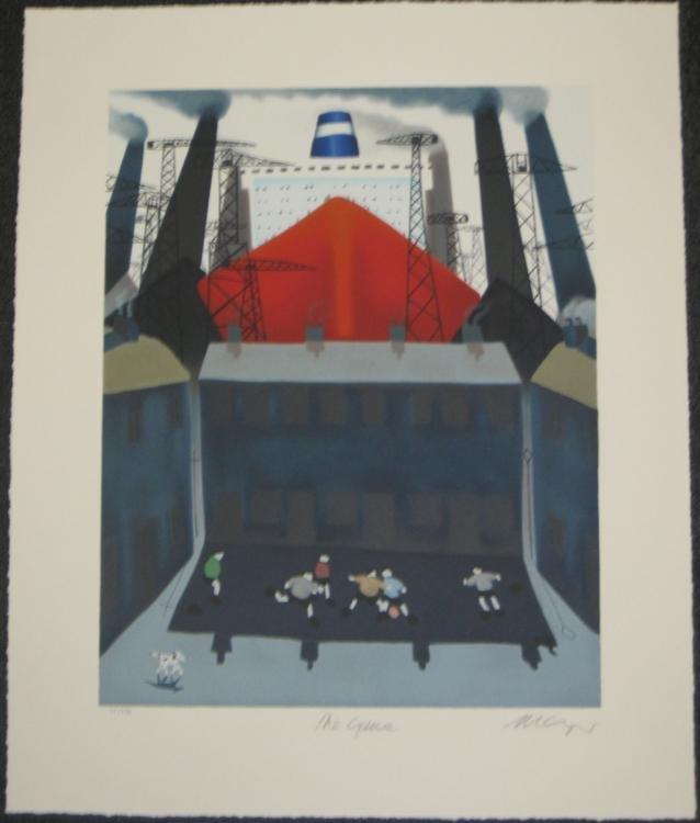 Mackenzie Thorpe The Game Ltd Ed. Art Print