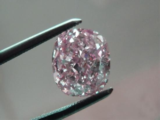 Bianco 1.5 Carat Pink Cushion Cut Diamond