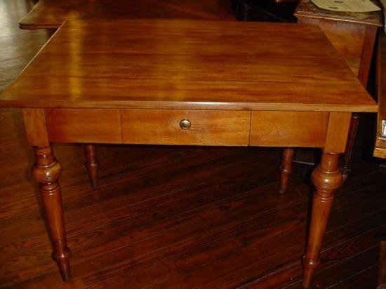 French table with 1 drawer circa 1850