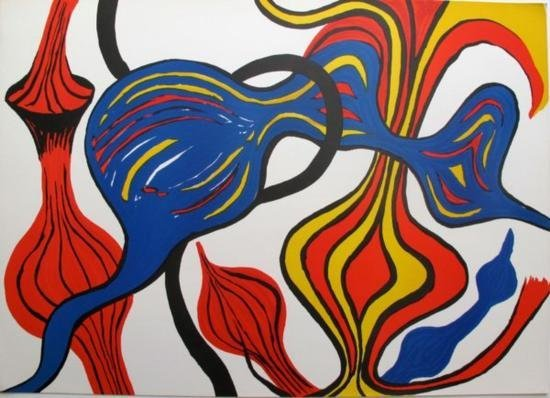 LES OIGNONS 1973 Lithograph by Alexander Calder