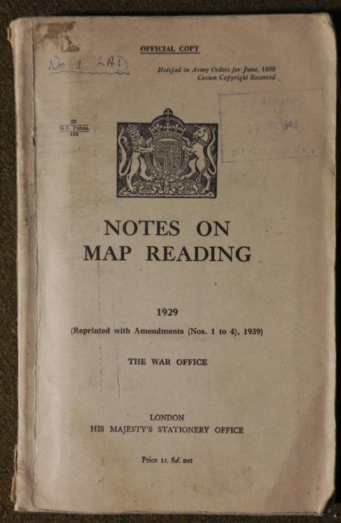LARGE BRITISH MILITARY 1929 MANUAL MAP READING LONDON