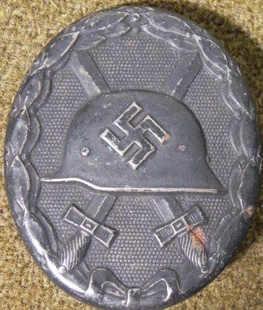 NAZI BLACK WOUND BADGE EARLY ORIGINAL