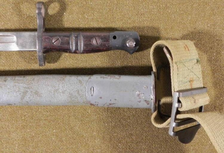 U.S. MODEL 1917 REMINGTON ARMS BAYONET, SCABBARD, BELT