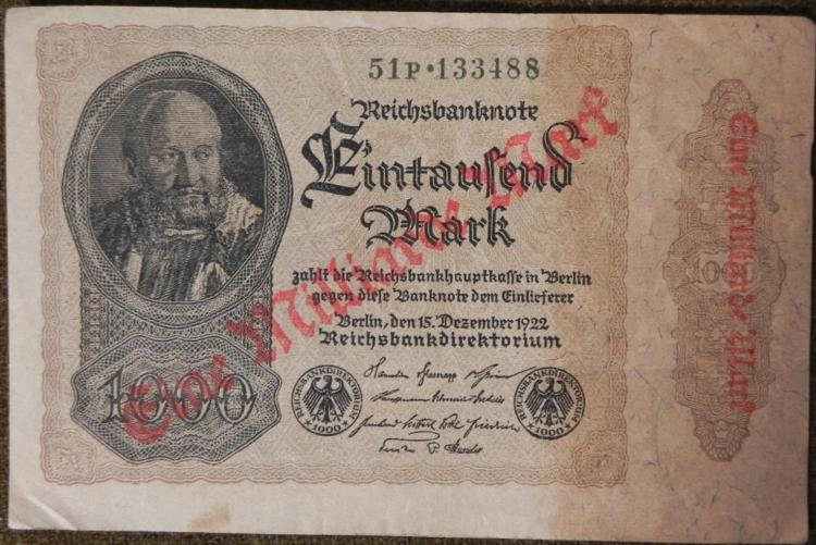 8 PCS OF OLD IMPERIAL,INFLATION GERMAN CURRENCY-1920S - 2