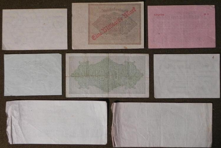 8 PCS OF OLD IMPERIAL,INFLATION GERMAN CURRENCY-1920S - 3
