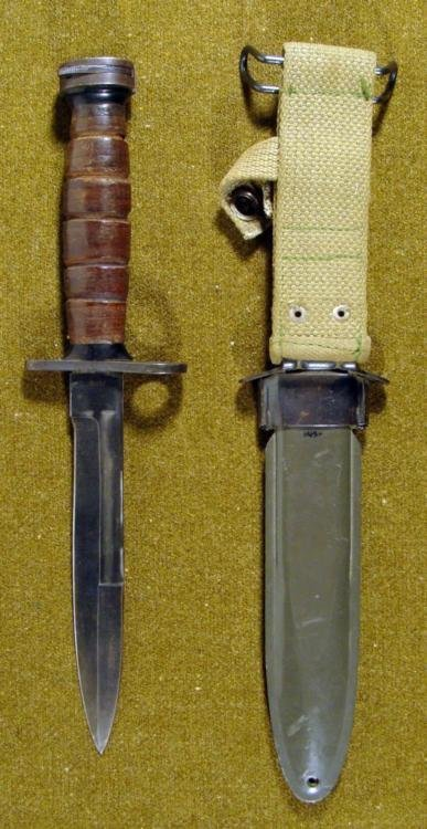 WWII M4 US BAYONET KNIFE-JAPANESE MADE W/M8A1 SCABBARD - 3
