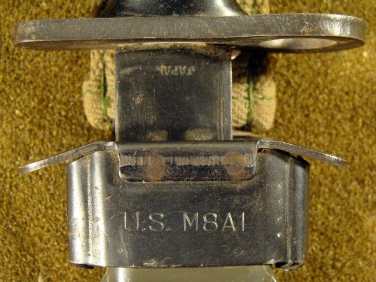 WWII M4 US BAYONET KNIFE-JAPANESE MADE W/M8A1 SCABBARD - 4