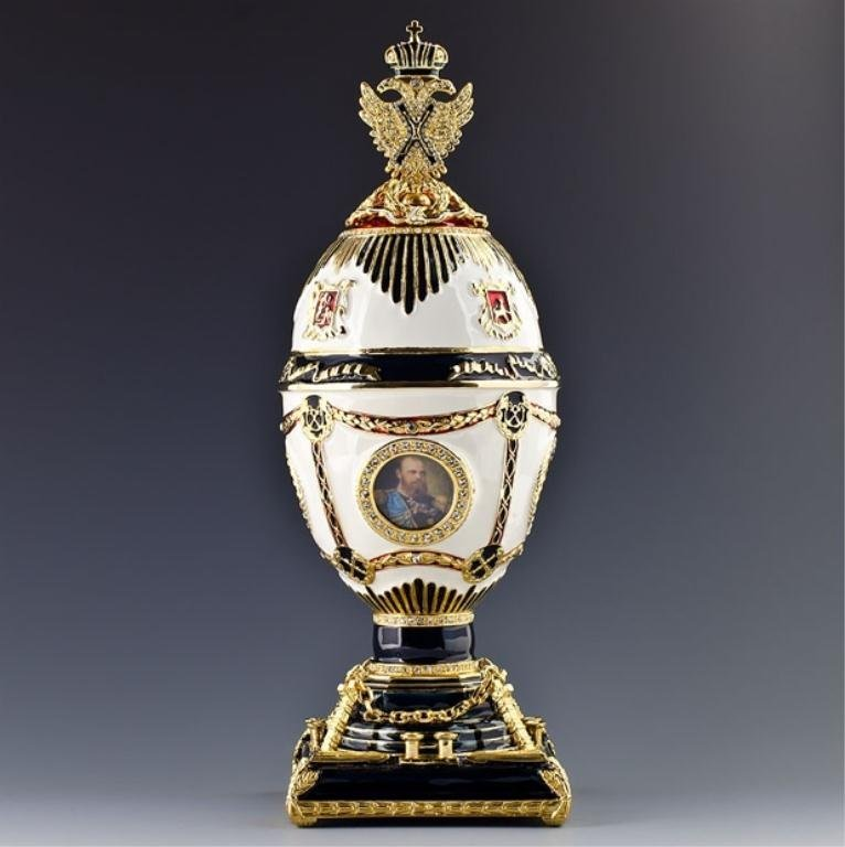Imperial Eagle Faberge Inspired Egg