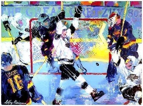 Gretzky Gretzky's Goal LE Signed LeRoy Neiman Serigraph