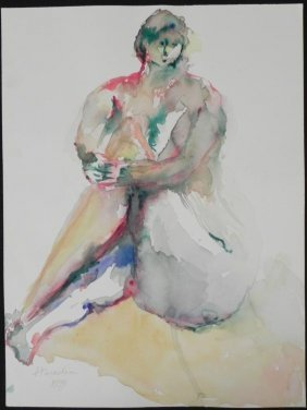 Betty Snyder Rees Original Painting Nude Woman