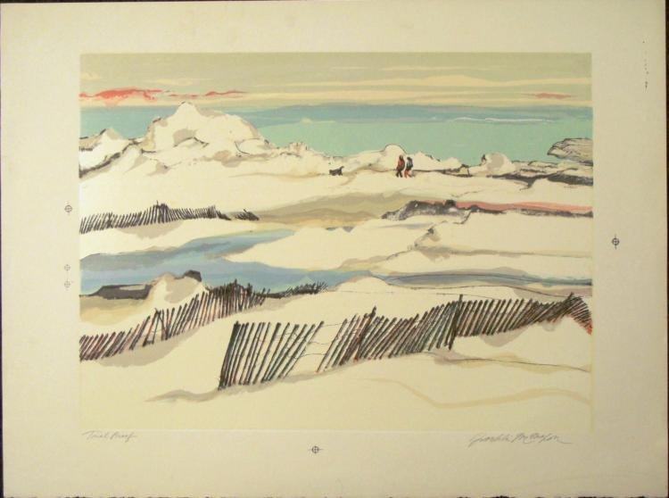 Franklin McMahon Signed Art Print Proof Lake in Winter