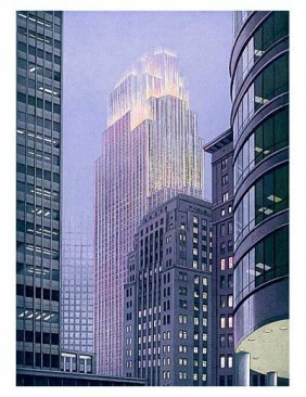 Signed Art Print RICHARD HAAS Minneapolis Dusk Lt Ed