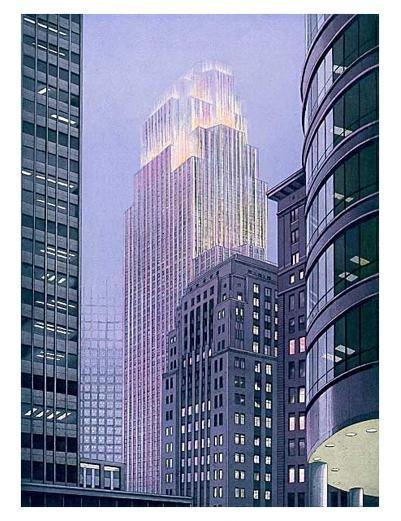 Signed Art Print RICHARD HAAS Minneapolis Dusk Lt Ed