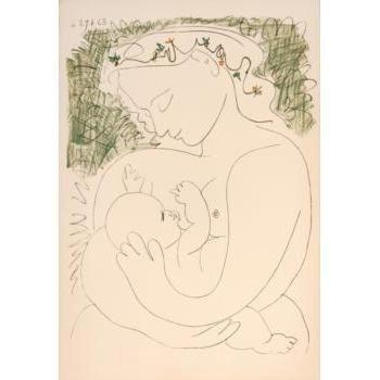 Pablo Picasso Le Grande Maternite Serigraph Art 1963