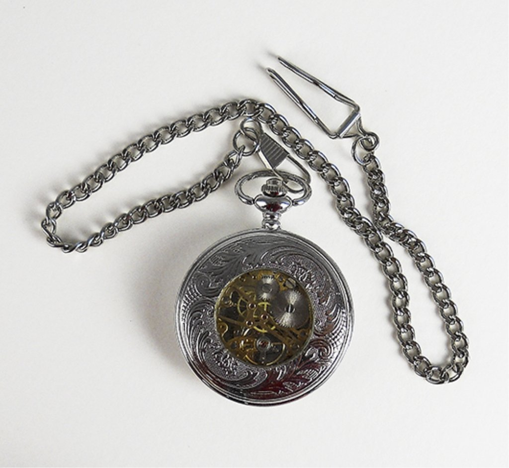 Stainless Steel Man's Pocket Watch