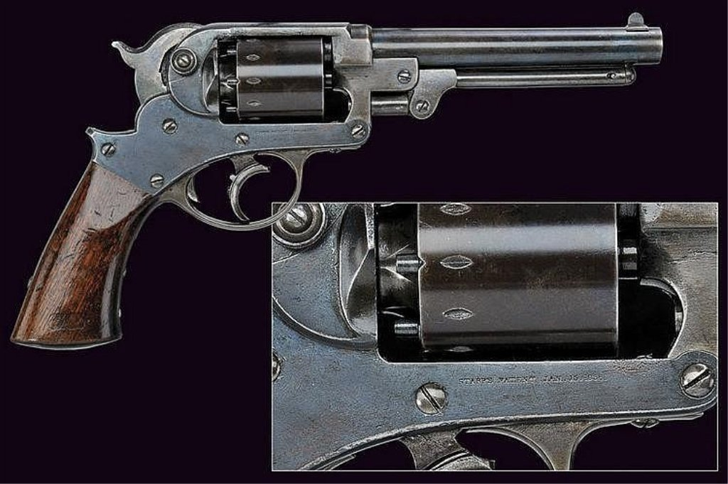 A Starr Arms Co. D.A. 1858 Army Revolver 44 cal