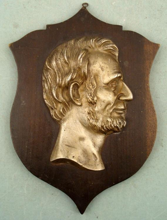 Vintage Abraham Lincoln Presidential Wall Plaque