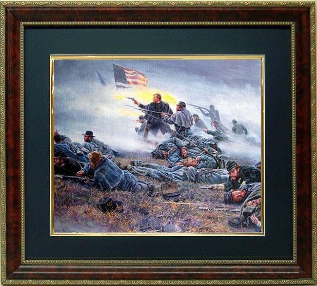 Mort Kunstler Civil War Framed Print Courage in Blue