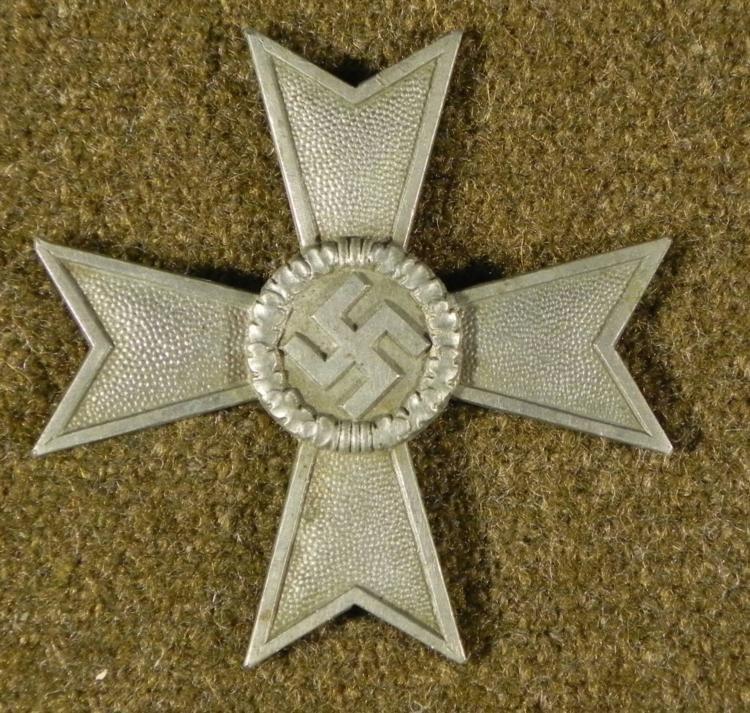 NAZI WAR MERIT CROSS-SILVER-1ST CLASS- UN-FINISHED ORIG