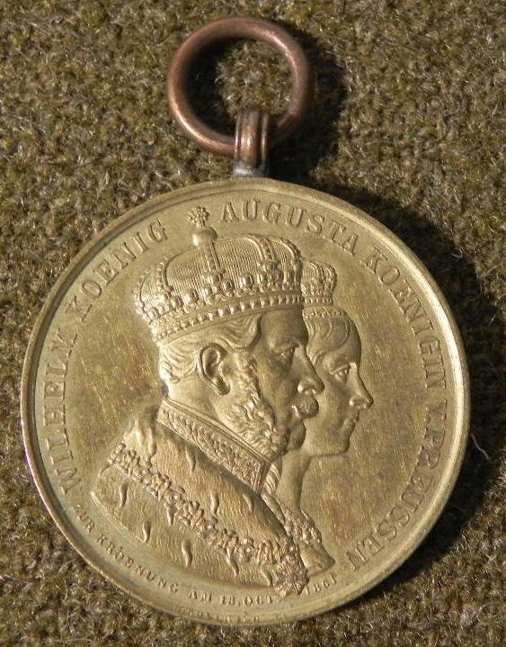 KING WILHELM QUEEN AUGUSTA OF PRUSSIA ORIGINAL MEDAL