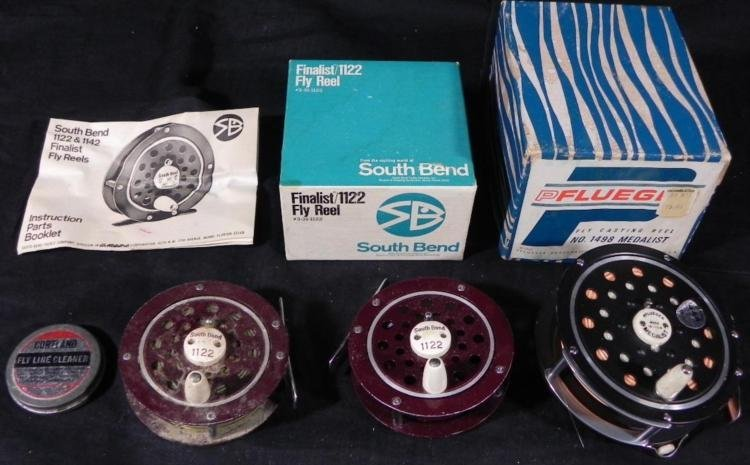 3) Fly Reels South Bend and Pflueger Cleaner Fishing