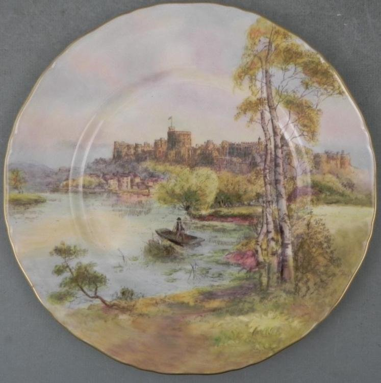 Royal Worcester Windsor Castle Plate England