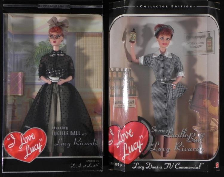 2 I Love Lucy Barbies L.A. TV Commercial Lucille MIB