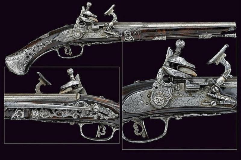FRAZINO db Flintlock snaphaunce pistoL