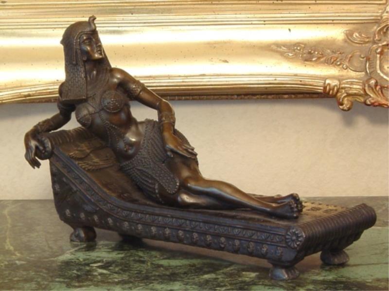 Bronze Sculpture Queen Nefertiti Royal Beauty