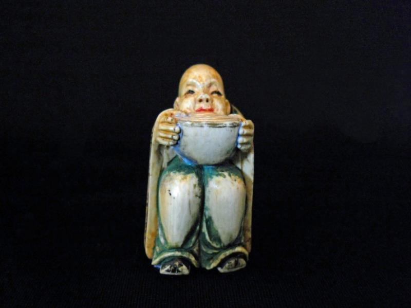 Hand Carved Bone Netsuke Figure