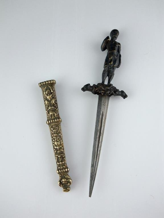 Masterfully cast Bronze gripped nobleman's Dagger