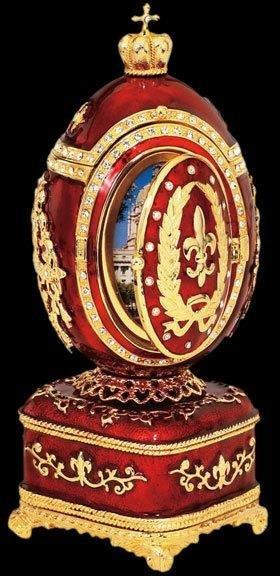 Faberge Inspired Fleur-de-Lis Egg