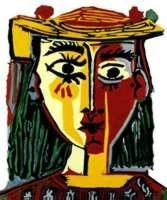 Bust of A Woman By Picasso Giclee Numbered 20x26 Canvas