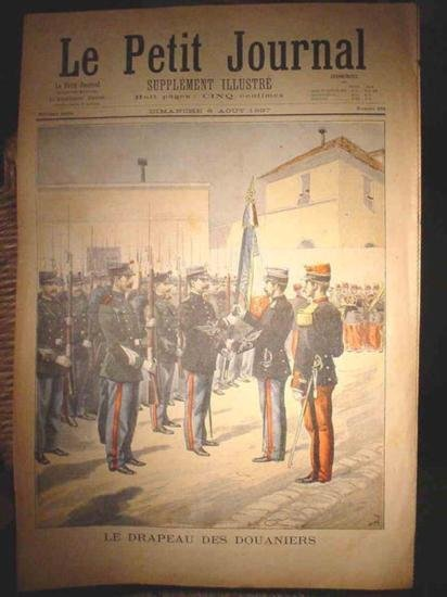 Authentic antique French newspaper dating 1897