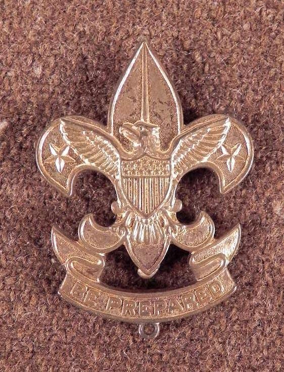ANTIQUE BSA-BOYSCOUTS OF AMERICA MEMBERSHIP MEDAL 1911